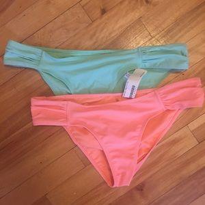 3/$30 Forever 21 pastel cheeky bikini bottoms